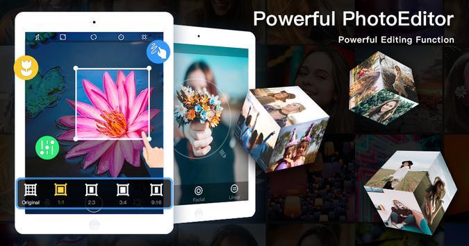 Editor de fotos gratuito - Beauty Selfie Camera captura de pantalla 6