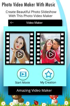 Photo Video Maker With Music - Slideshow Maker poster