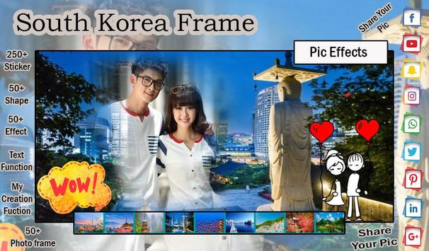 South Korea Photo Frame - Photo Editor poster