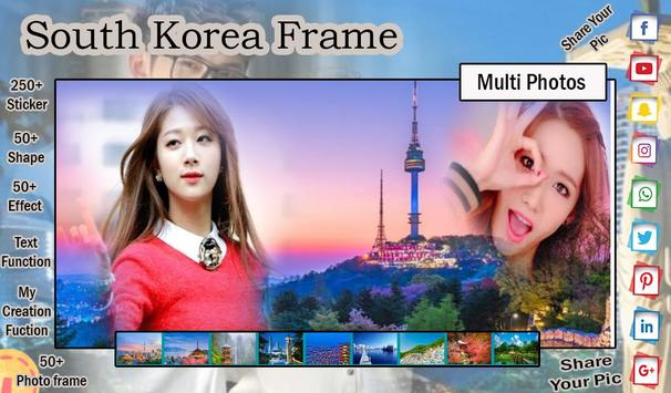 South Korea Photo Frame - Photo Editor screenshot 1