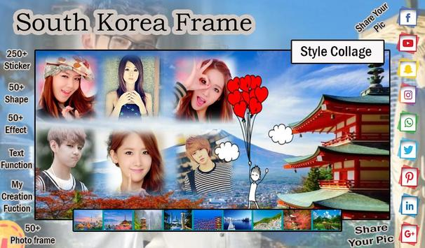 South Korea Photo Frame - Photo Editor screenshot 2