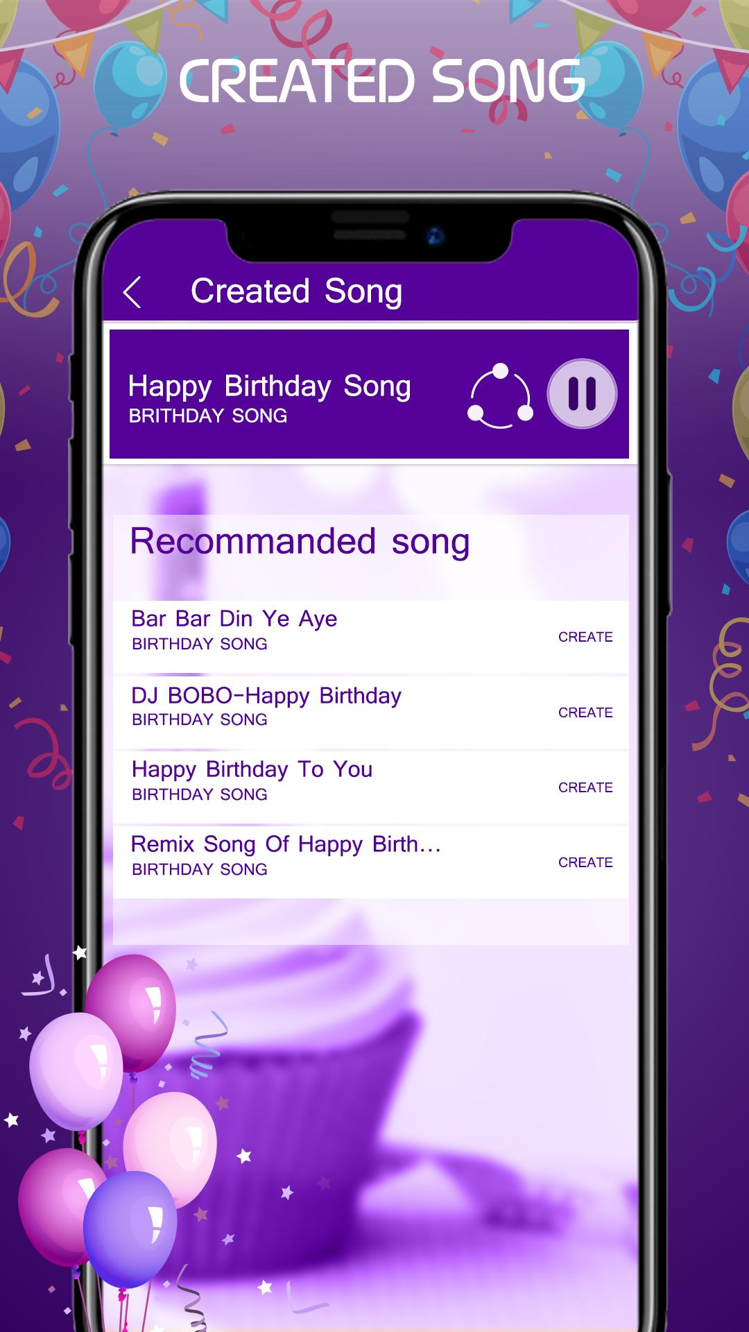 Happy Birthday Song With Name Generator for Android - APK