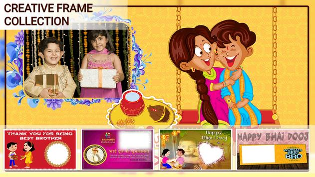 Bhai Dooj Photo Frame poster