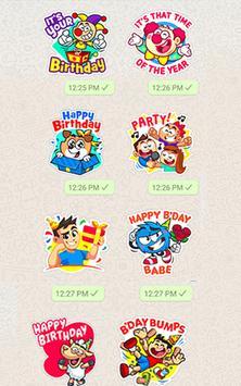 Birthday WA-Sticker App poster