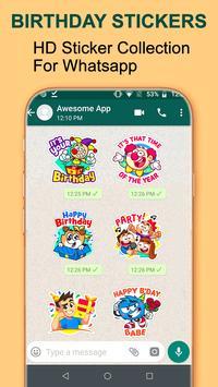 Birthday WA-Sticker App screenshot 1