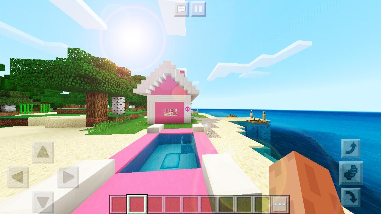 minecraft pink mansion apk