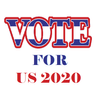 US Election 2020 Polling Zeichen
