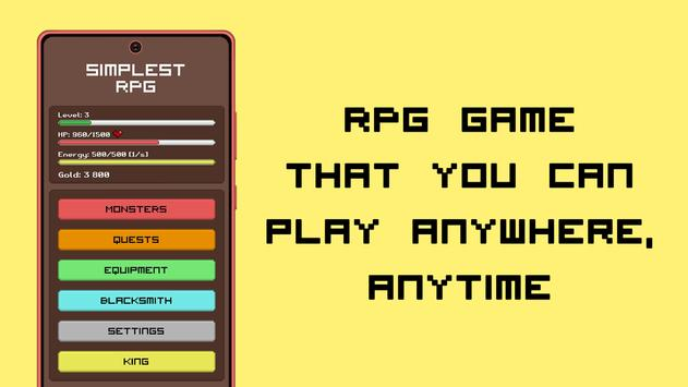Simplest RPG Game captura de pantalla 9