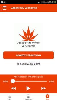 Arboretum w Rogowie Audioprzewodnik screenshot 6