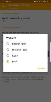Word Memo Widget screenshot 5