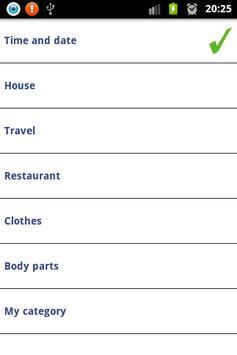 Learn english vocabulary screenshot 1