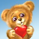 테디 베어 사랑 배경 화면 APK