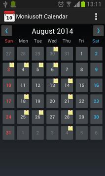 Moniusoft Calendar Ekran Görüntüsü 5