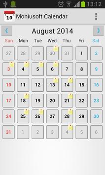Moniusoft Calendar Ekran Görüntüsü 6