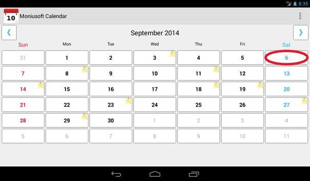 Moniusoft Calendar Ekran Görüntüsü 14
