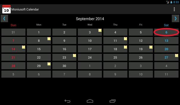 Moniusoft Calendar Ekran Görüntüsü 20