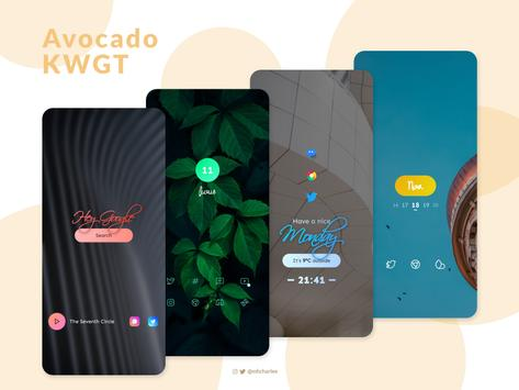 Avocado KWGT screenshot 6