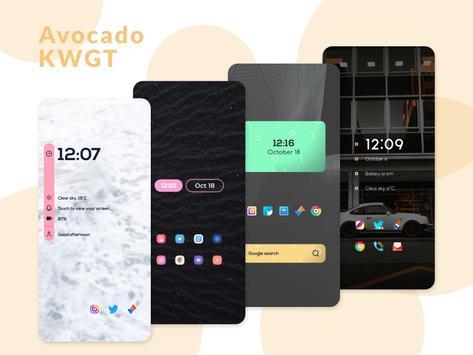 Avocado KWGT screenshot 7