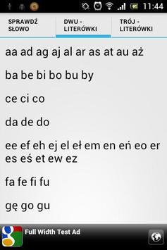 Scrabble - sprawdź słowo screenshot 3