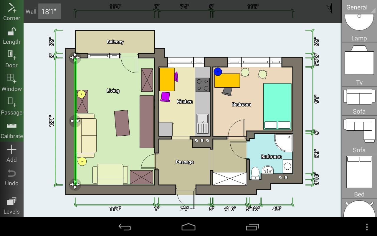 Aplikasi untuk Floor Plan Creator