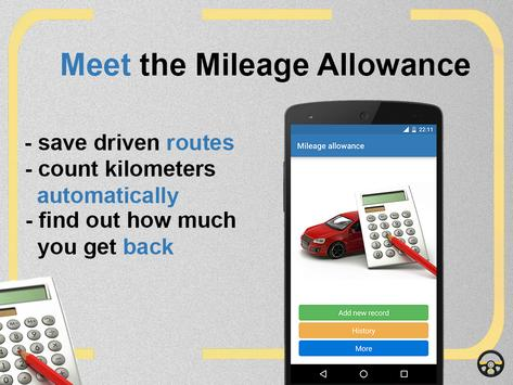 Mileage allowance poster