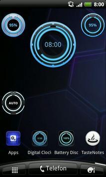 Digital Clock Disc Widget poster