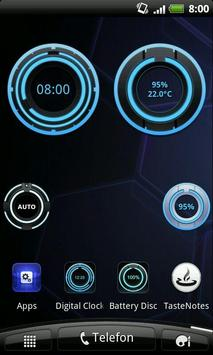 Digital Clock Disc Widget screenshot 1