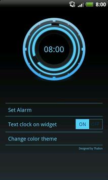 Digital Clock Disc Widget screenshot 2
