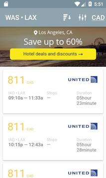 Plane tickets online screenshot 1