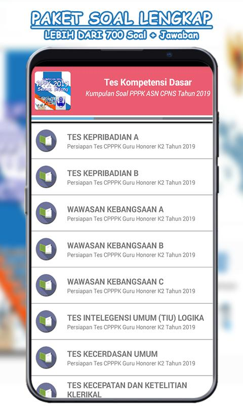 Soal Pppk 2019 H2k Profesional For Android Apk Download