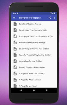 Prayers For Children screenshot 1