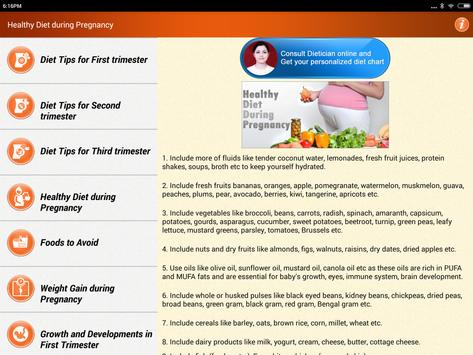 Pregnancy Care Healthy Diet & Nutrition Foods Help screenshot 19