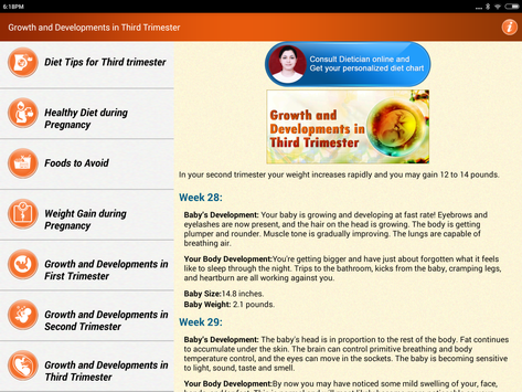 Pregnancy Care Healthy Diet & Nutrition Foods Help screenshot 23