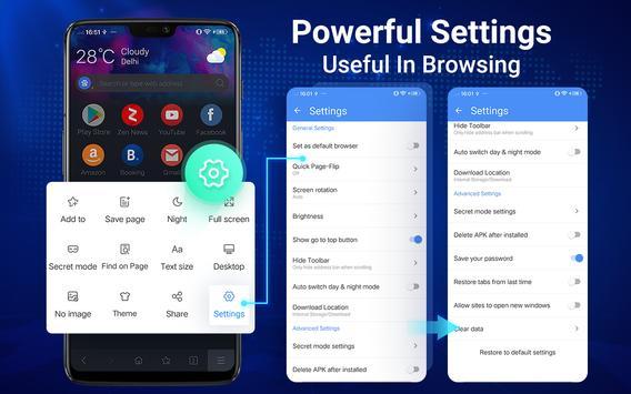 Browser Web - Web Explorer Cepat, Privasi & Ringan screenshot 16