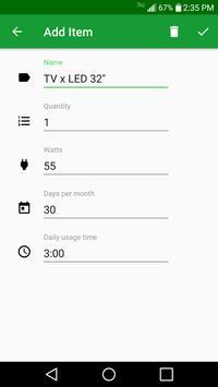 Electricity Consumption Calculator screenshot 1