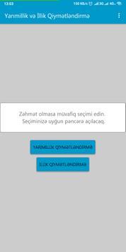 Yarımillik və İllik bal və qiymət  hesablama poster