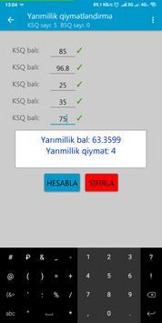 Yarımillik və İllik bal və qiymət  hesablama screenshot 1