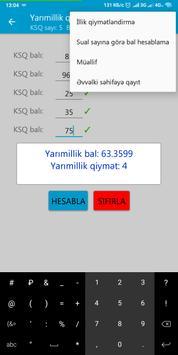 Yarımillik və İllik bal və qiymət  hesablama screenshot 2