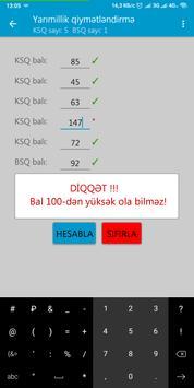 Yarımillik və İllik bal və qiymət  hesablama screenshot 5