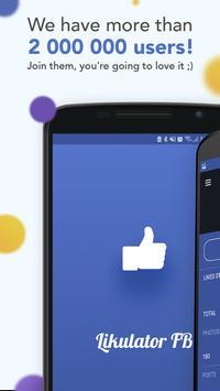 Likulator - likes counter for Facebook Poster