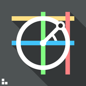 Trigonometry. Unit circle. icon