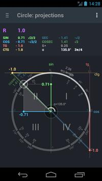 Trigonometry. Unit circle. poster