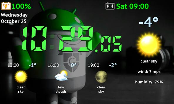 Weather Night Dock Free screenshot 3