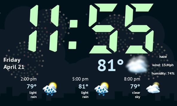Weather Night Dock Free screenshot 7