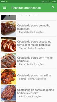 Comida & Receitas americanas grátis em portuguesas screenshot 1