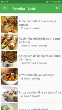 Receitas fáceis e rápidas grátis em portuguesas poster