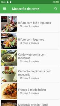 Receitas com macarrão de arroz grátis screenshot 3