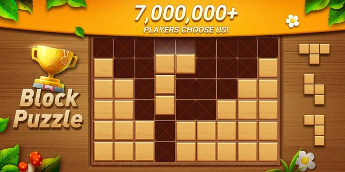 Wood Block Puzzle - Free Classic Block Puzzle Game poster