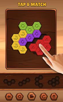 Hexa Wood Puzzle الملصق