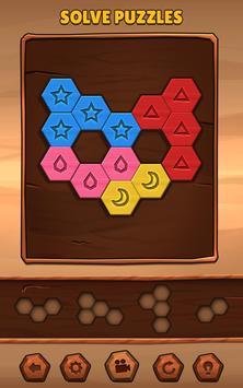 Hexa Wood Puzzle تصوير الشاشة 1